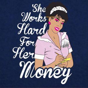 donna summer t shirt she works hard mens tee donna summer,queen of disco she works hard for her money!