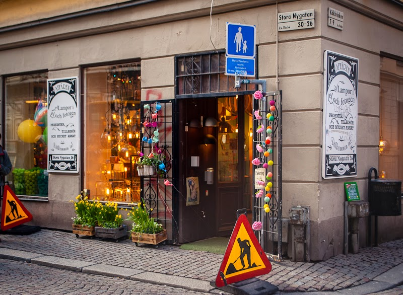 lighting store in gamla stan sweden stockholm