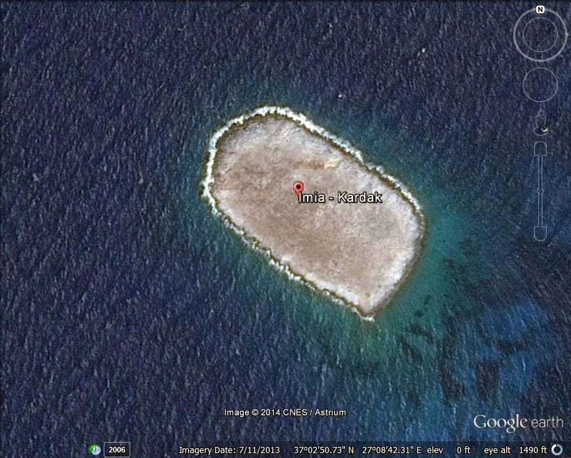 The Imia/Kardak Islands - disputed island ranked 3rd