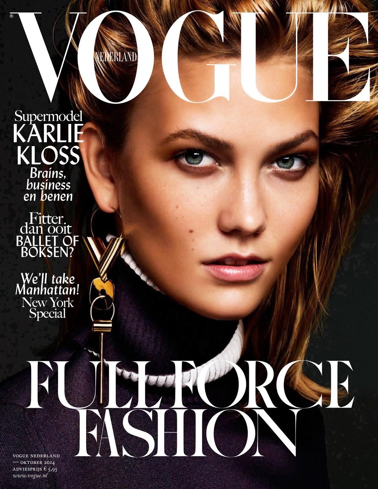 Karlie kloss vogue russia october 2017