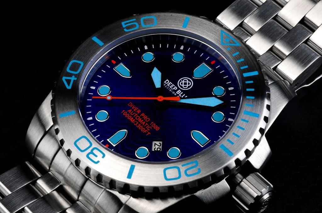 Oceanictime deep blue watches diver pro 1000 automatic - Dive deep blue ...