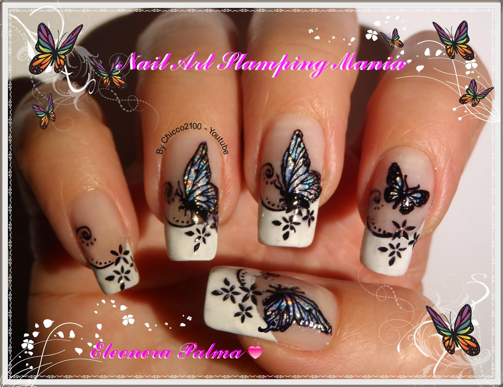 Nail Art Stamping Mania: Stamping Decal with Nail Foil \