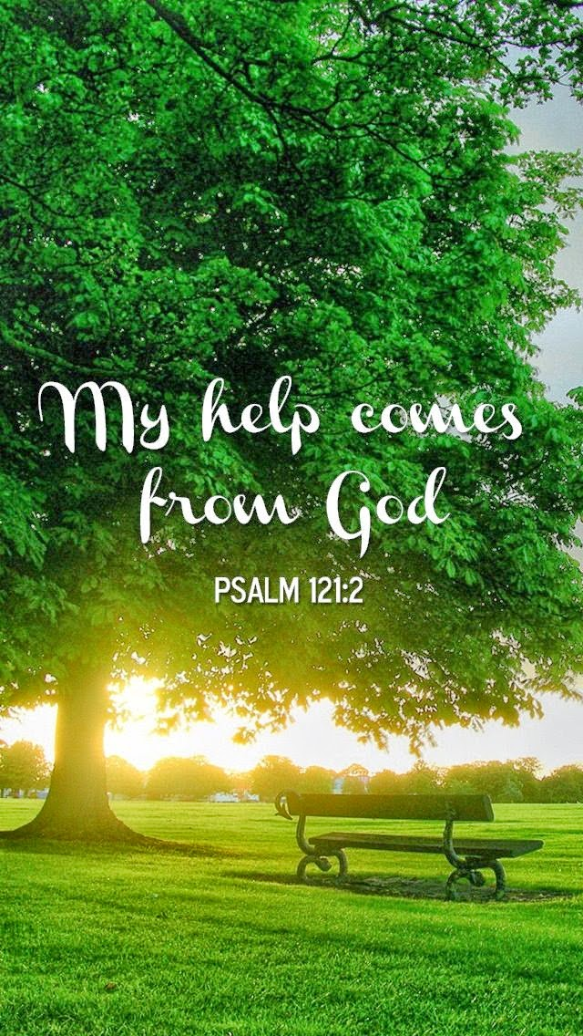 My help comes from God Psalm 121:2