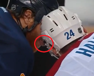 Steve Ott tries to lick Jeff Halpern