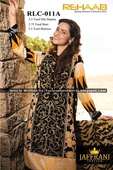 Javeria Saud Featuring Jaffrani Textile Summer Lawn 2015