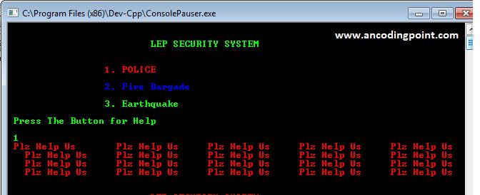 Security Alarm System in C++