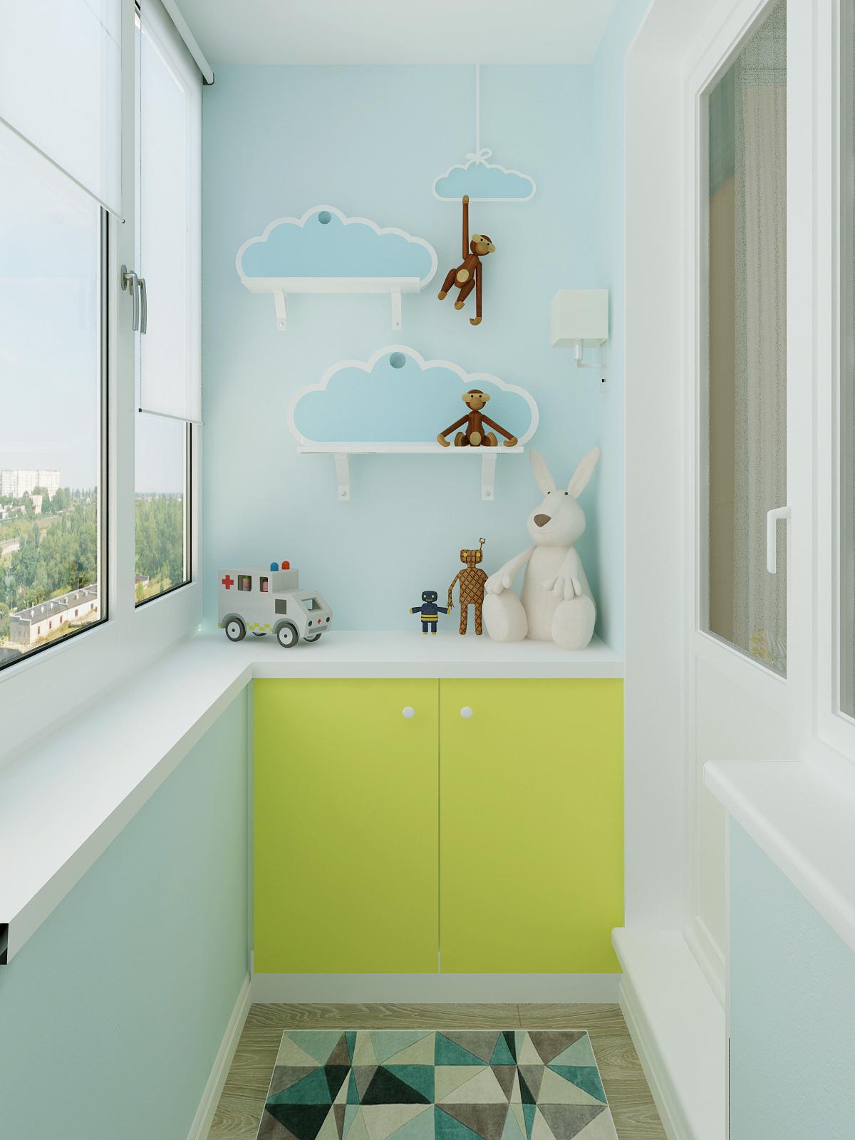 Детский балкон - интерьеры квартир, домов - myhome.ru.