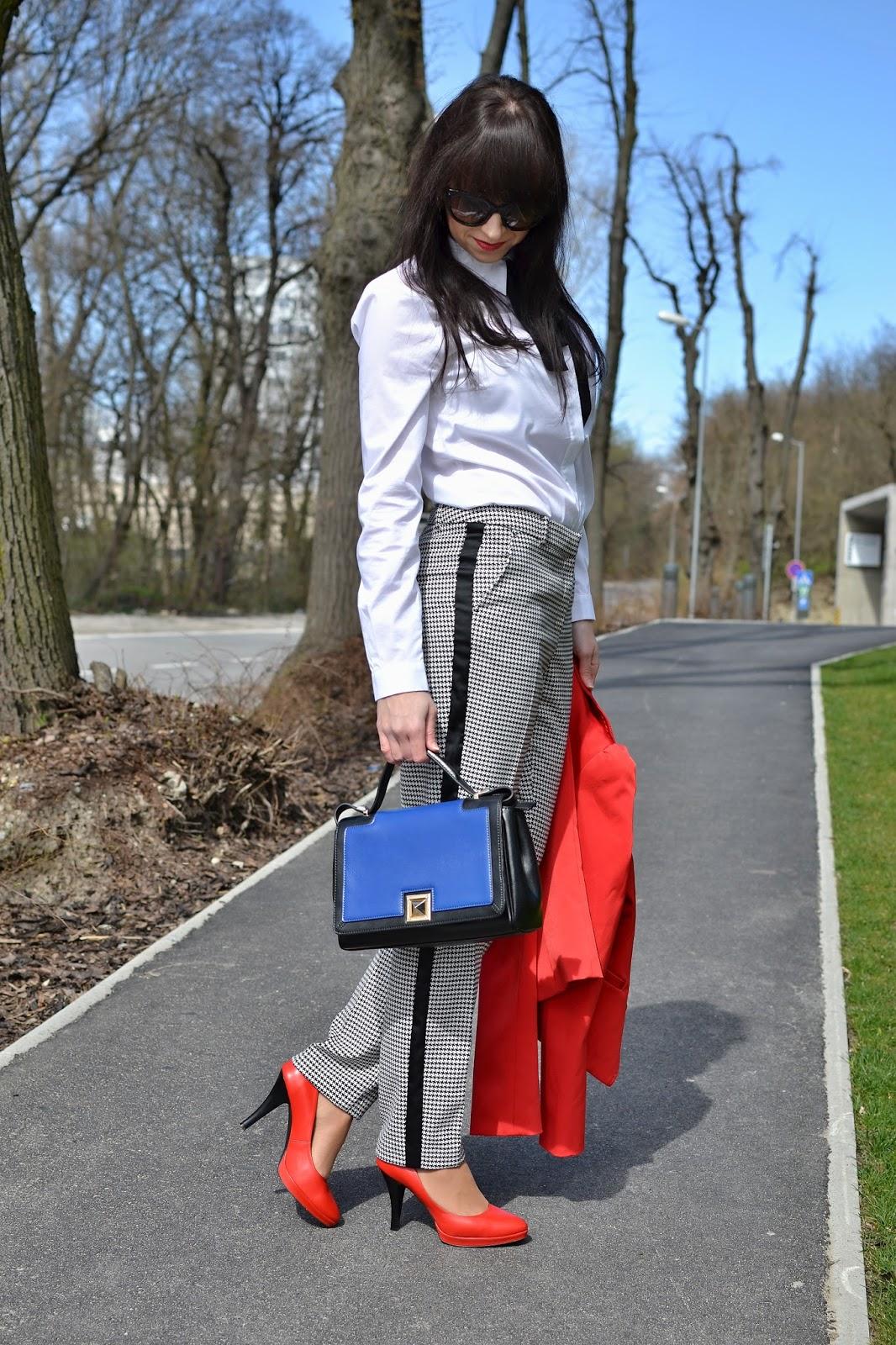 ELEGANTNE PO PRÁCI_Katharine-fashion is beautiful_Kohutia stopa_Biela košeľa_Červené lodičky_Katarína Jakubčová_Fashion blogger