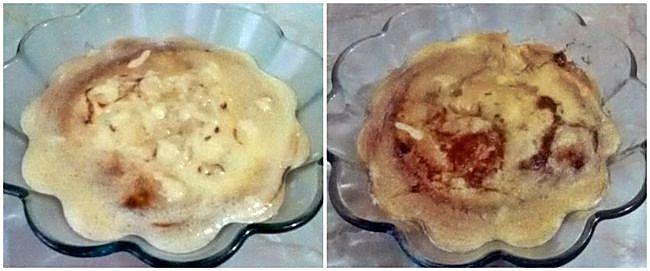 Preparación del pudín de tapioca y chocolate
