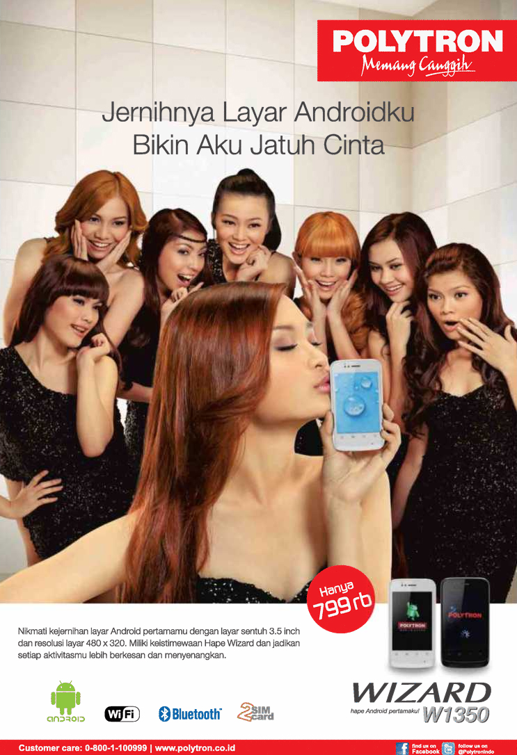Harga Jual Hp Polytron Android W1350 45 Daftar W3430 Wizard Crystal Smartphone