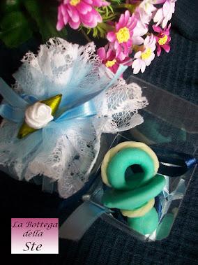 Bomboniere battesimo originali, economiche e artigianali, in pasta di mais personalizzabili