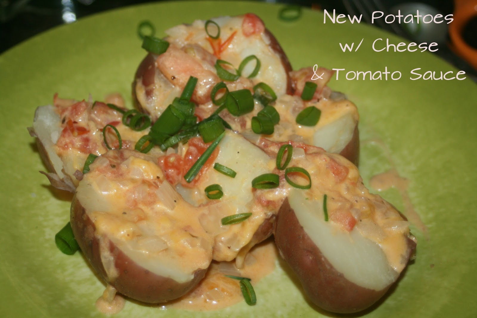 to Z & Tasty Delights: New Potatoes with Cheese & Tomato Sauce