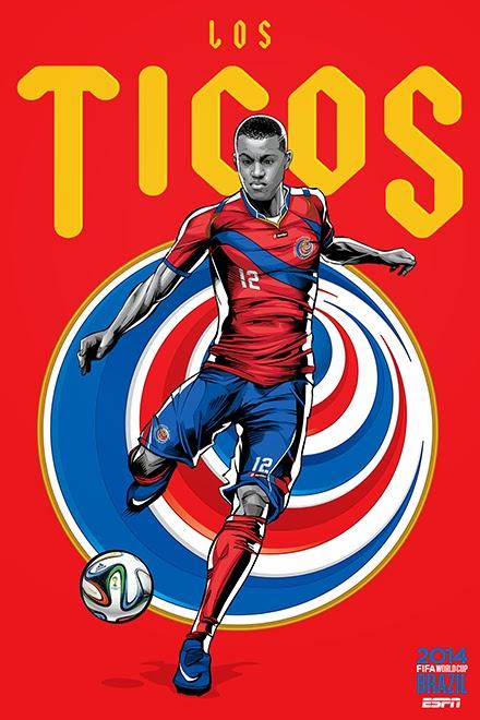 Poster keren world cup 2014 - Costa Rica