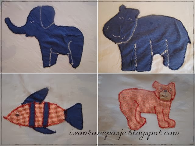 animals, elephant, hippo, fish, application, for kids