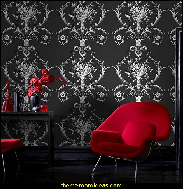 Trendy De Lacey Black Wallpaper Moulin Rouge Theme Bedrooms Romantic Themed Decorating Ideas With