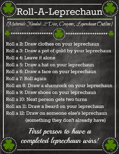 Roll-A-Leprechaun {Fun Family Dice Game}