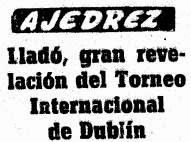 Artículo de Mundo Deportivo sobre el torneo Zonal de Dublín 1957