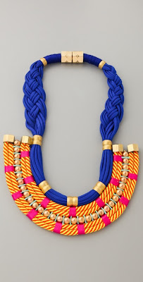 colorful statement necklaces, trend, fashion trend, trend-spotting, jewelry, Holst + Lee Plate Necklace