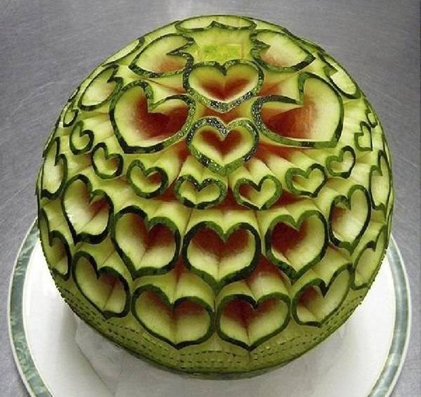 منحوتات البطيخ الرائعة
