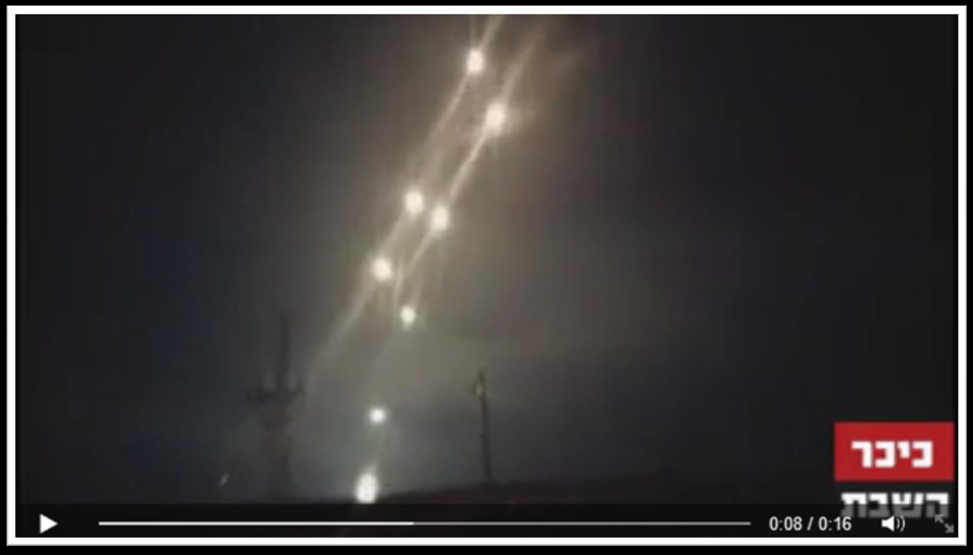 رشقة صواريخ أطلقت من غزة