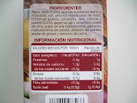 Ingredientes e información nutricional del caldo de cocido Hacendado de Mercadona.