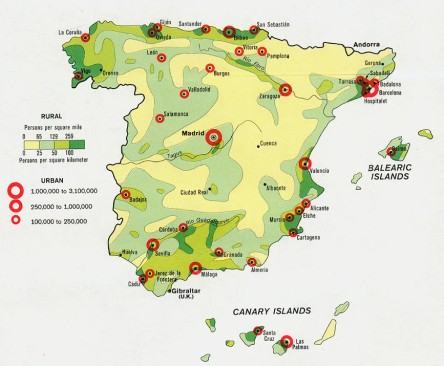 Castile La Mancha Tourism Map Area Map of Spain Tourism Region and