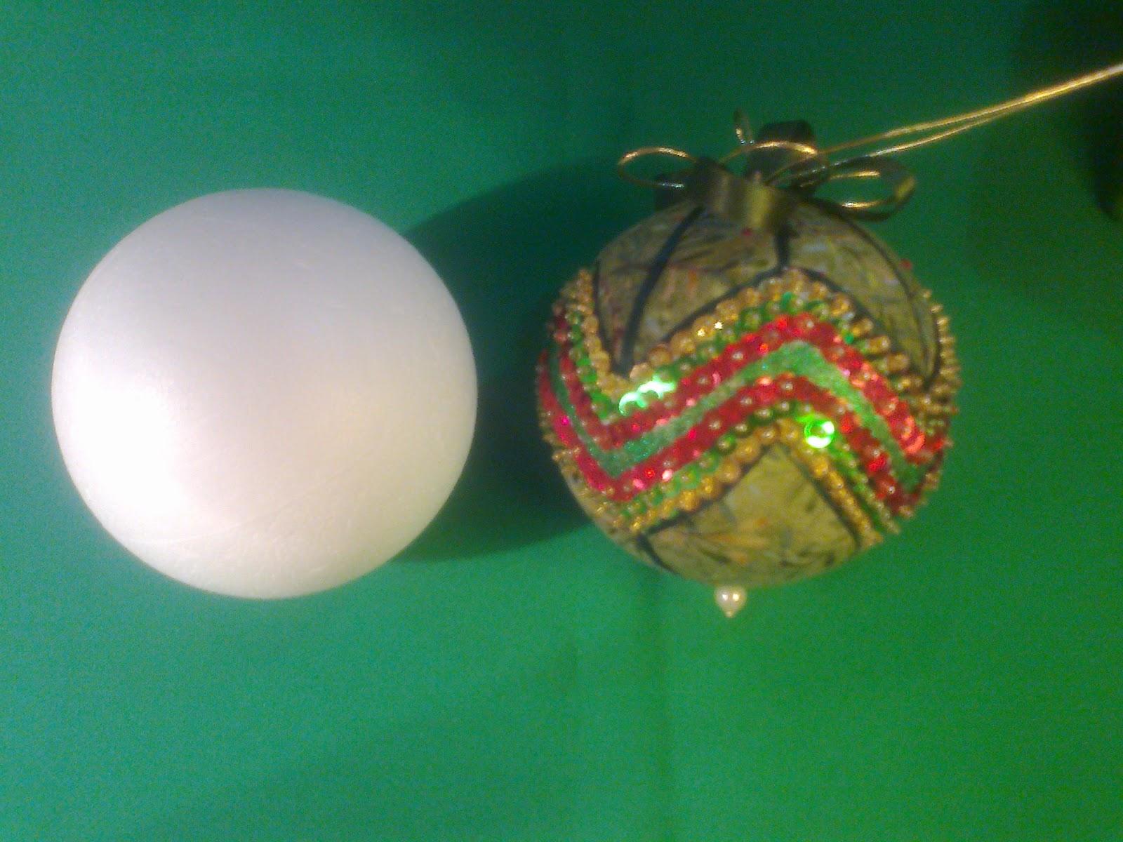 Manualidades gavimar bolas de navidad - Manualidades con bolas de navidad ...