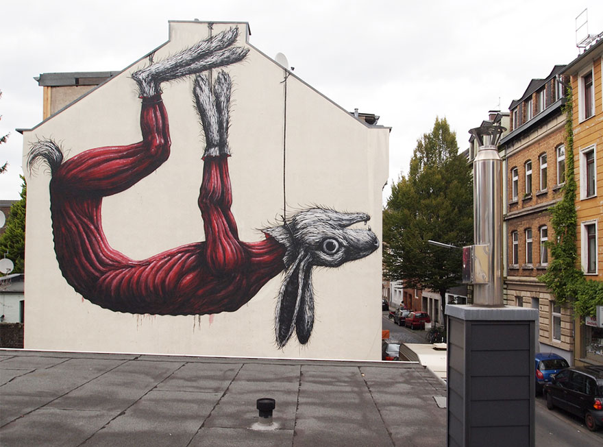 These 30+ Street Art Images Testify Uncomfortable Truths - Animal Cruelty Abounds