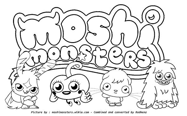 Moshi Monsters Coloring Pages Games – Colorings.net