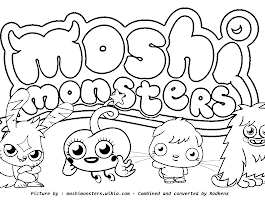Moshi Monsters Coloring Pages Games