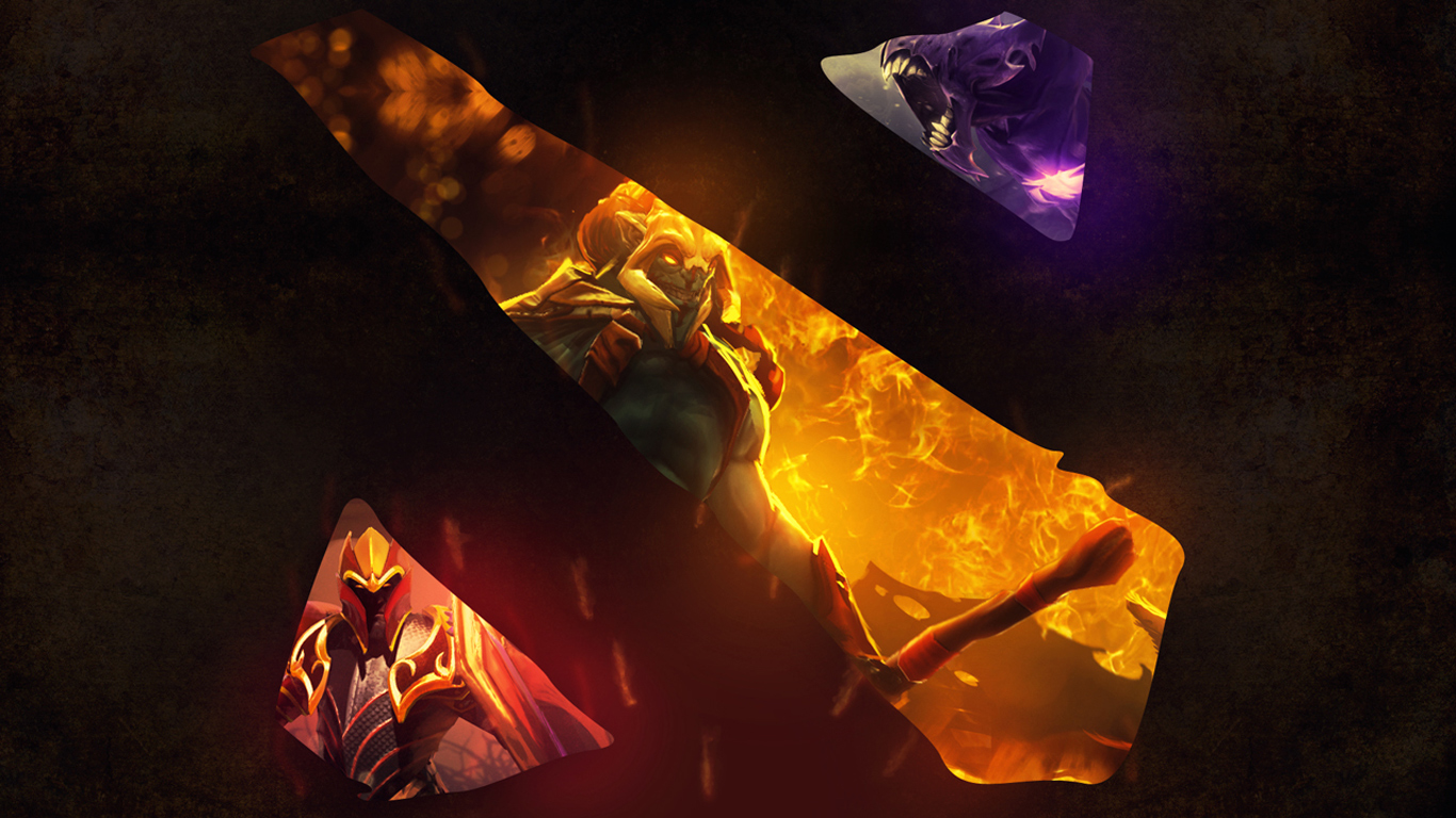 dota 2 logo 7v wallpaper hd