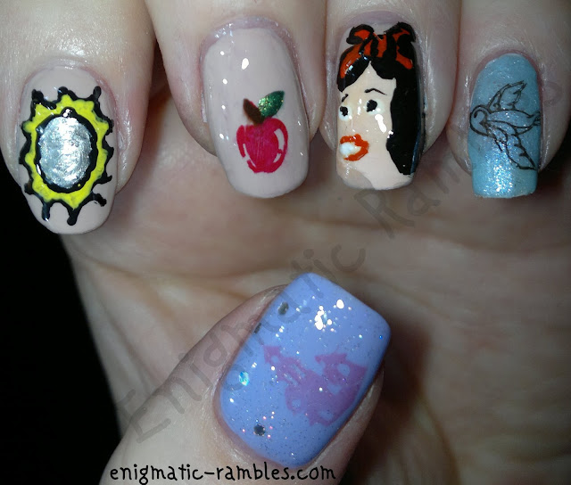 sunday-stamping-fairy-tail-nails-snow-white-konad-q1-m55-disney