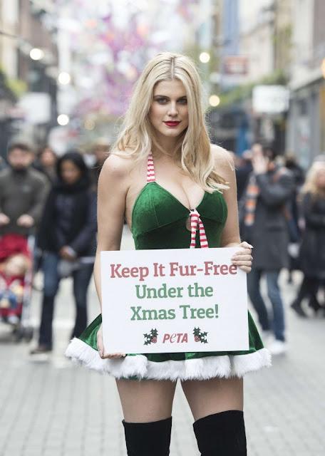 Ashley James – Fur Free PETA Christmas Campaign