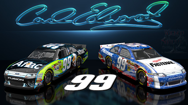 Carl Edwards Aflac Nascar United Wicked Text wallpaper 16x9