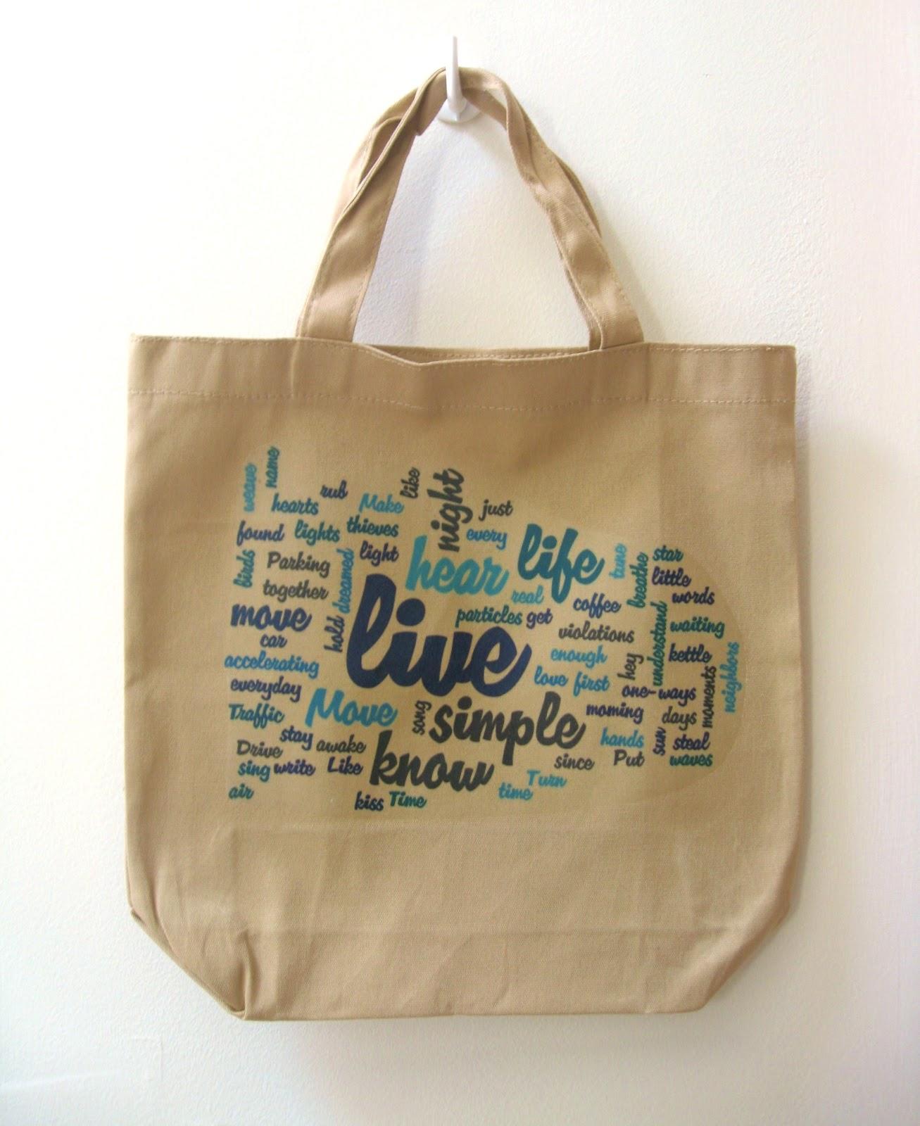 megan E sass handknits: DIY Word Cloud Tote Bag: How-To