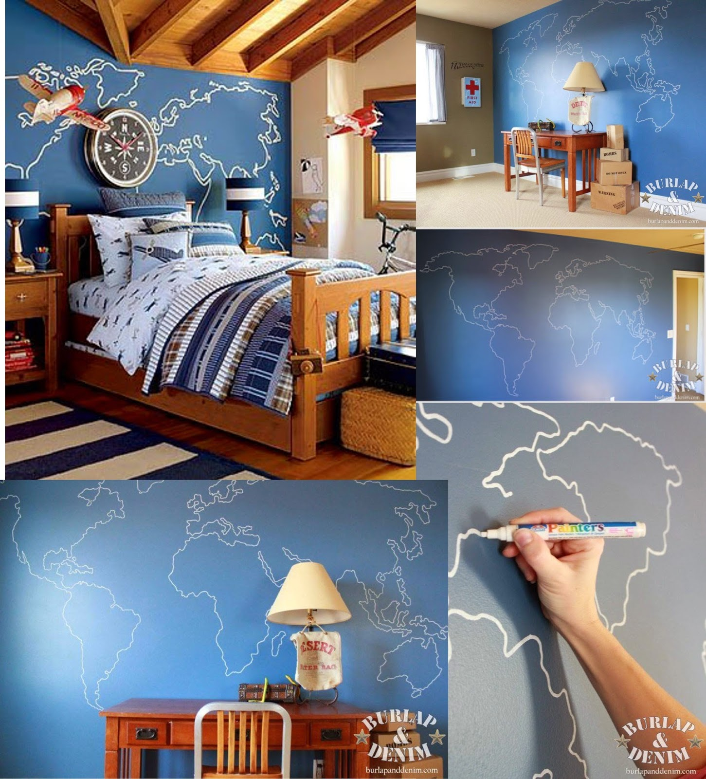 DIYs Design In Living Spaces - Us map you can draw on