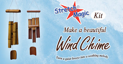 Make a beautiful natural bamboo wind chime with Stretch Magic.