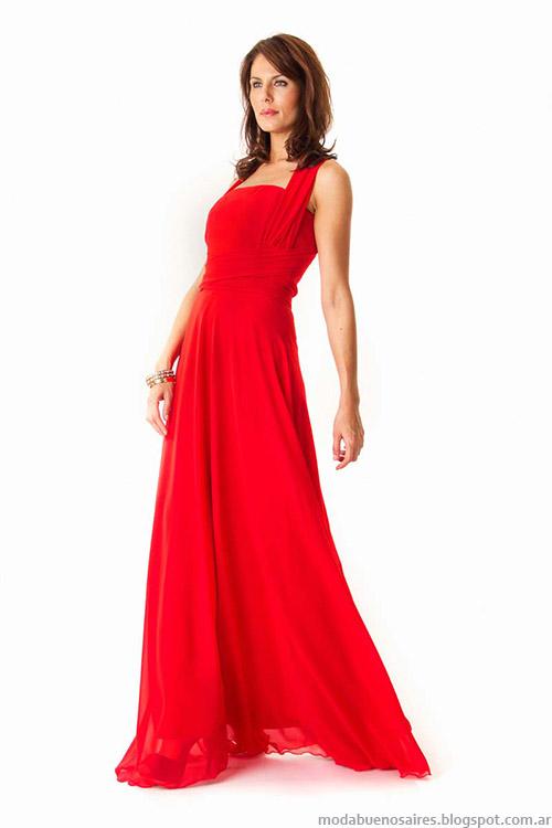 Moda verano 2015 Veronica Far vestidos de fiesta.