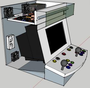 Video juegos jaguar gabinete arcade for Como hacer una maquina recreativa