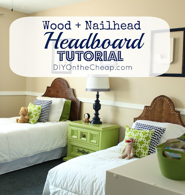 Wood + Nailhead Headboard Tutorial