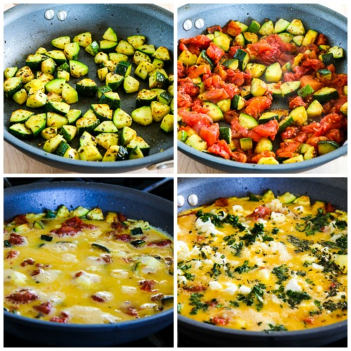 Greek Frittata with Zucchini, Tomato, Feta, and Herbs found on ...