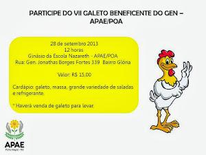 VII GALETO BENEFICENTE DO GREMIO ESTUDANTIL DA ESCOLA NAZARETH