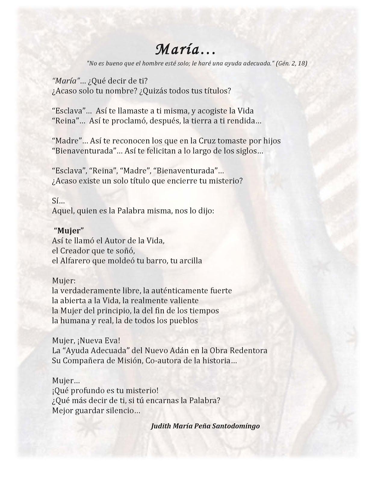 Poema a María