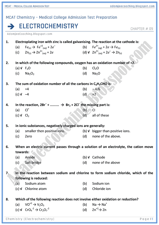 mcat-chemistry-electrochemistry-mcqs-for-medical-entry-test