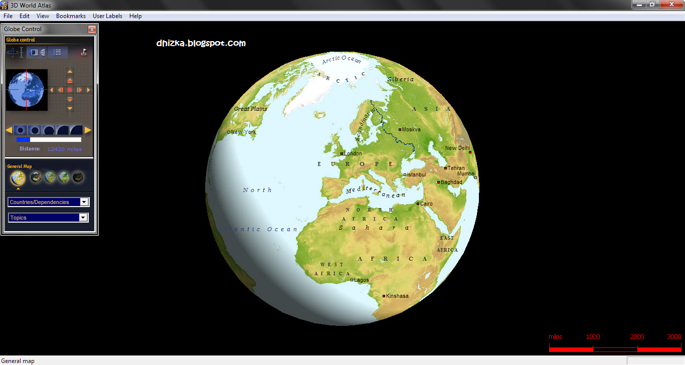 3d world atlas iso serial