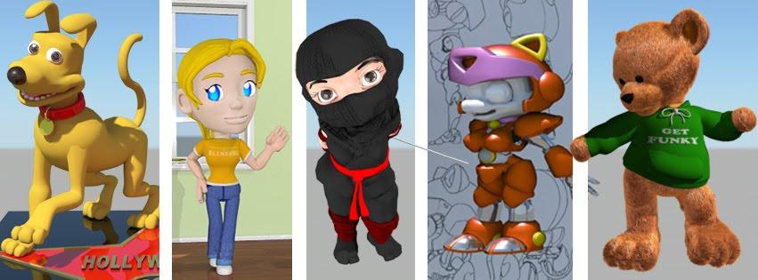 Rofideo: 3D Artist cartoon characters animation