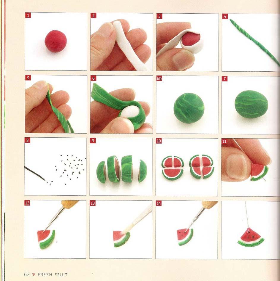 Фрукты из мастики пошаговое фото