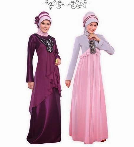 Model Gaun Pesta Malam Muslimah Terbaru 2014