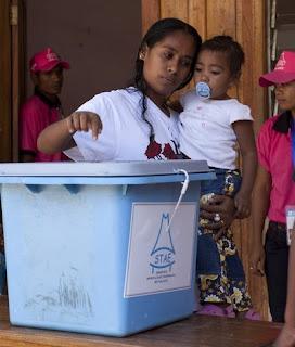 Polícia timorense conseguiu criar condições de segurança para pessoas votarem - UNPOL
