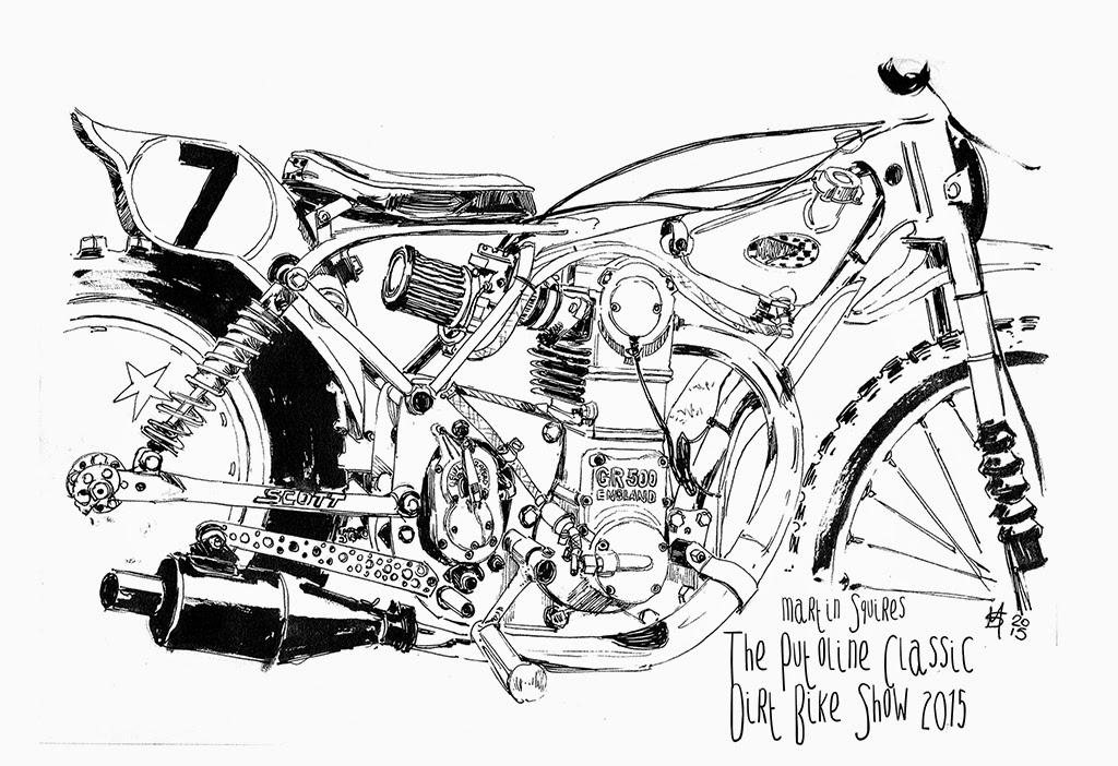 martin squires automotive illustration  pluoline classic